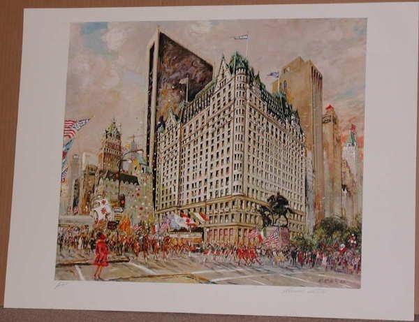 759: Kamil Kubik, Plaza Hotel, Signed Serigraph
