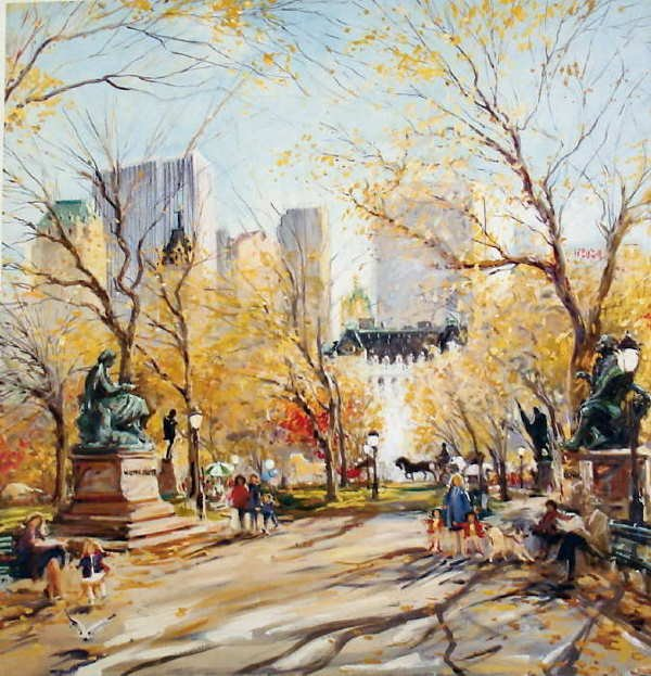 836A: Kamil Kubik, Poet's Walk II, Signed Canvas Print