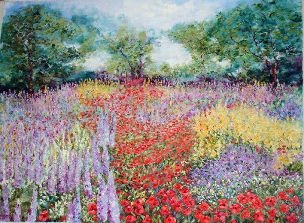 100: Wanda Kippenbrock, Spring's  Arrival, Oil on Canva