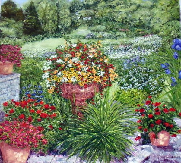 101: Wanda Kippenbrock, Formal Garden, Oil on Canvas