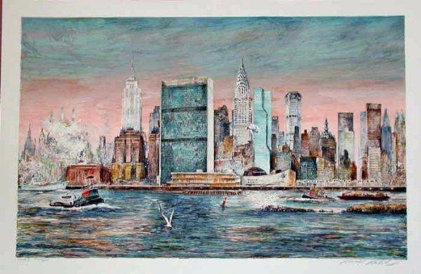 116A: Kamil Kubik,  East River, NY,  Signed Print