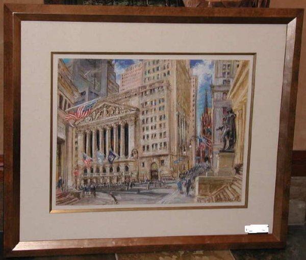 444: Kamil Kubik, NY Stock Exchange, Signed Pastel