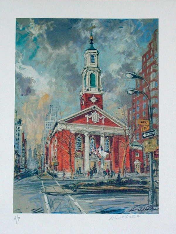 104: Kamil Kubik, Brick Church NY, Signed Print