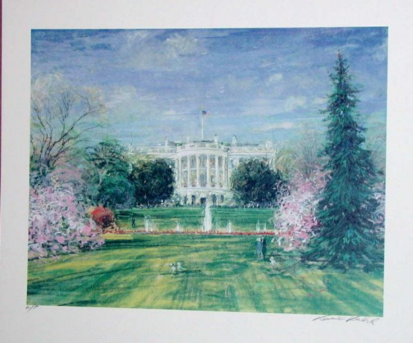 766: Kamil Kubik, The White House, Signed Serigraph