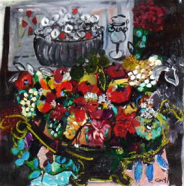 954: Bracha Guy, Harmony, Signed Oil on Canvas