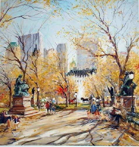 369A: Kamil Kubik, Poet's Walk II, Signed Canvas Print