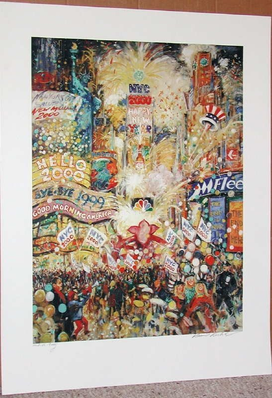 412: Kamil Kubik, New Years Eve, Signed Serigraph
