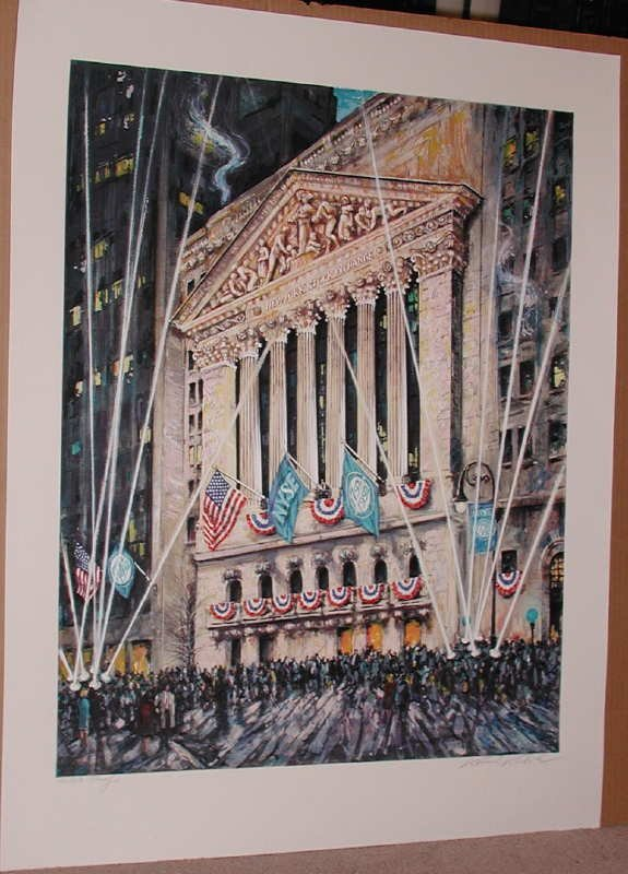 762: Kamil Kubik, NY Stock Exchange, Signed Serigraph