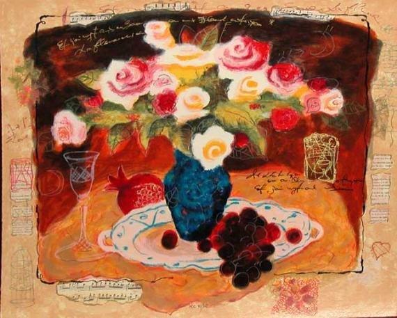 316A: Alexander Wissotsky, Yellow Bouquet, Signed Serig