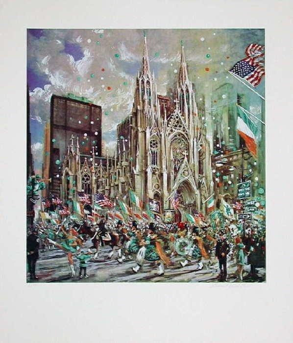 755A: Kamil Kubik, St. Patricks Day, Signed Serigraph