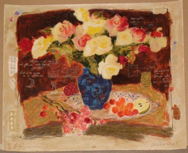 790: Alexander Wissotsky, Spring Flowers, Signed Serigr