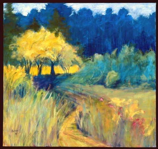 959: Anne Boysen, Vision, Signed Canvas Print