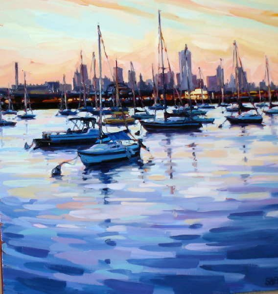 359: Shelby Keefe, Bay View II, Signed Canvas Print