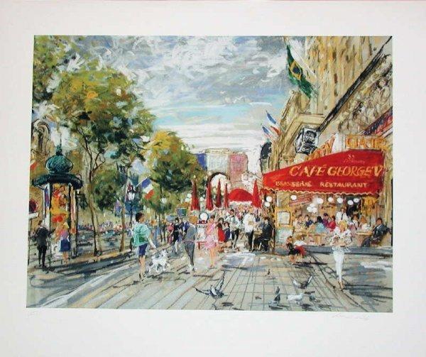 103: Kamil Kubik, Champs Elysee, Signed Print