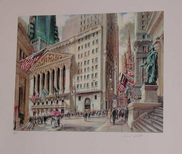 765: Kamil Kubik, The Stock Exchange, Signed Serigraph