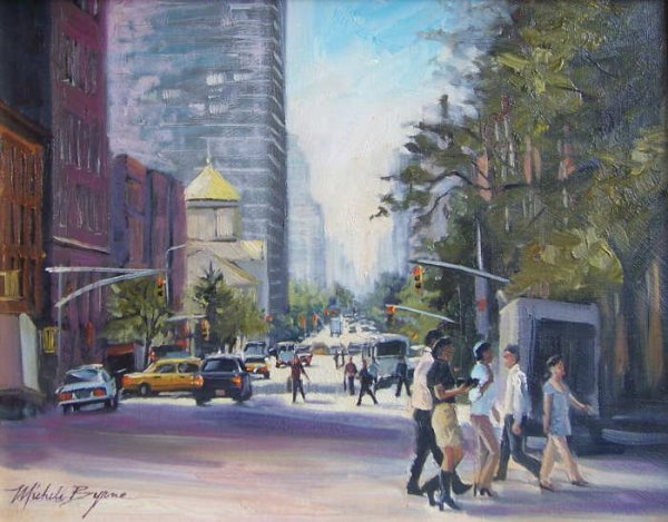 754B: Michele Byrne, Lunch Hour, Oil on Canvas
