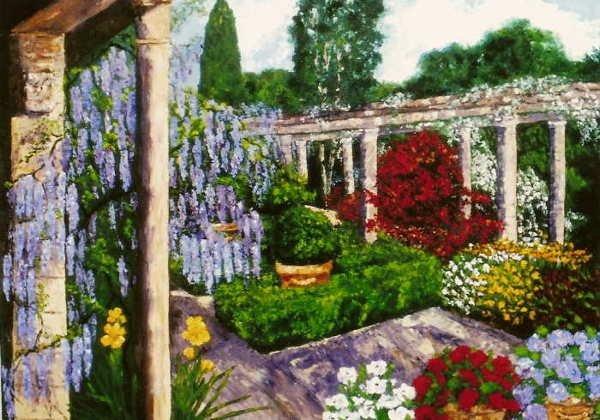 101: Wanda Kippenbrock, Elegant Tranquility, Oil on Can