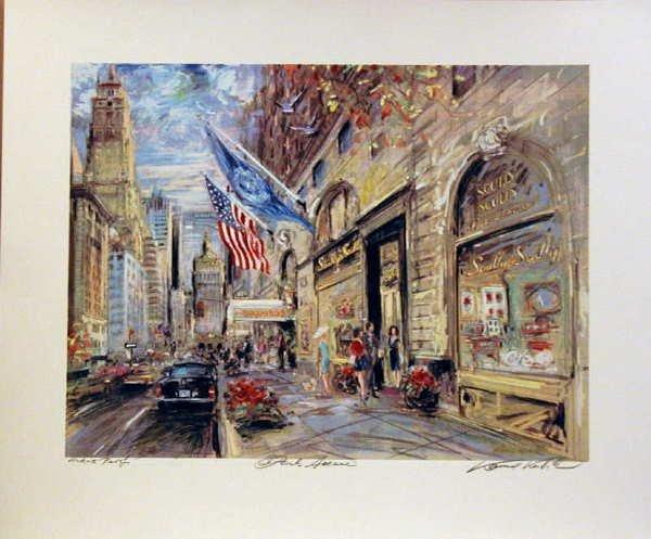 104: Kamil Kubik, Park Avenue, Signed Serigraph