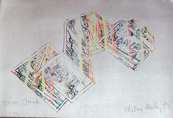 119A: Malcolm Morley, Miami Silver, Signed Lithograph