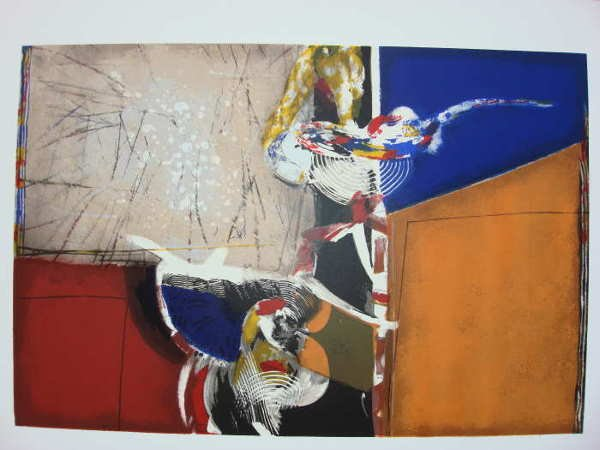 131: Victor Gomez, Abstractions II, Signed Serigraph