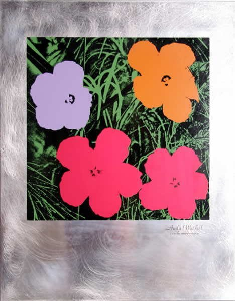 313D: Andy Warhol, Flowers, Serigraph on Aluminum