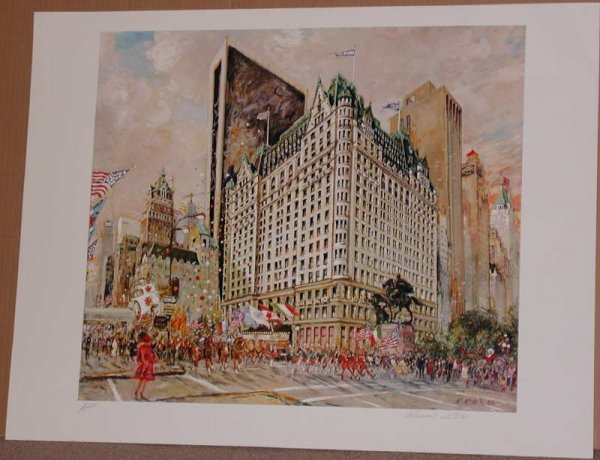 505:  Kamil Kubik, Plaza Hotel, Signed Serigraph