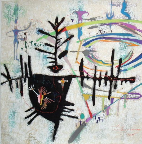 510:  Li Zhong-Liang, Signed Primitive Painting