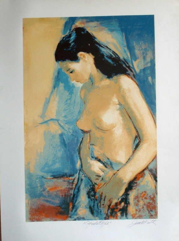 305A: Jan De Ruth, Studio Light, Signed Lithograph