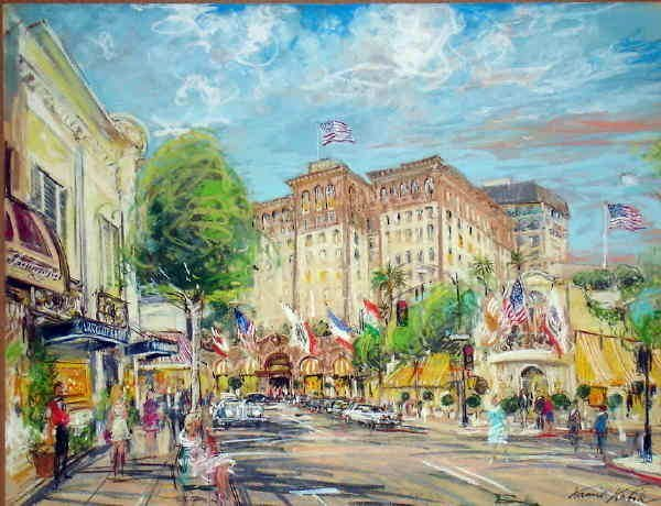 501A: Kamil Kubik, Rodeo Drive, Signed Pastel