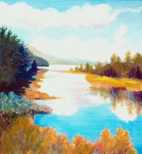 958: Anne Boysen, Canoe Route, Signed Canvas Print