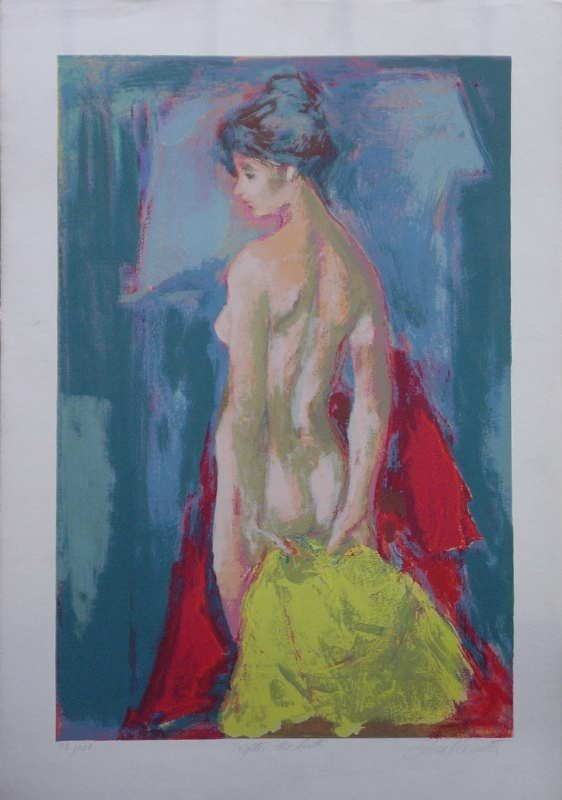 969F: Jan De Ruth, After the Bath, Signed Lithograph