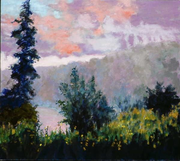 1022: Anne Boysen, View From the Bridge, Signed Oil on