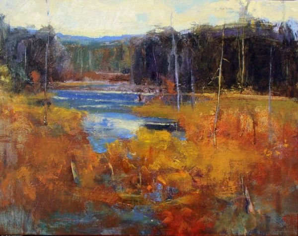 179: Ken Roth, Fall Marsh, Signed Oil Painting