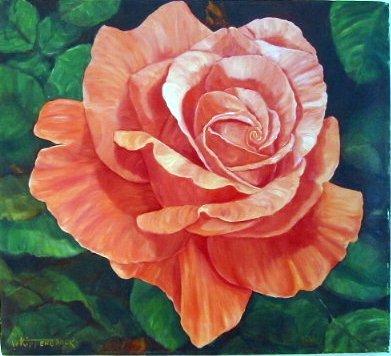 783D: Wanda Kippenbrock, Colorful Coral, Oil on Linen