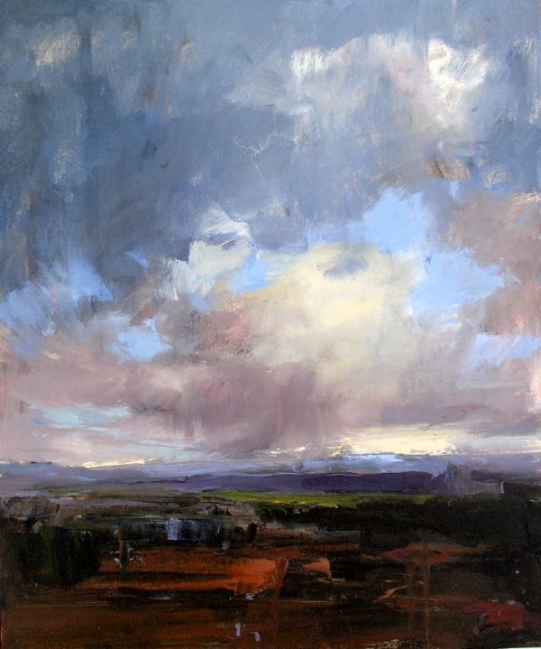 1017A: Ken Roth, Cascade Horizon, Signed Oil Painting