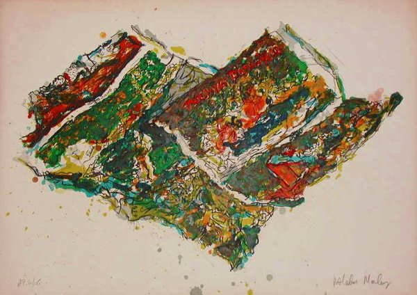 122: Malcolm Morley, Parrot Jungle Stone Litho