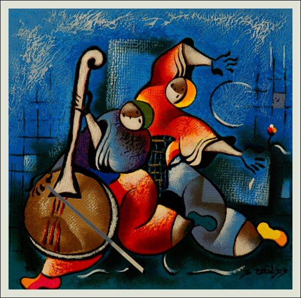 215: David Schluss,  Banjo Song Signed Serigraph