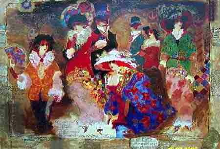 "305: Alexander Wissotsky, Love & Romance, Serigraph"""