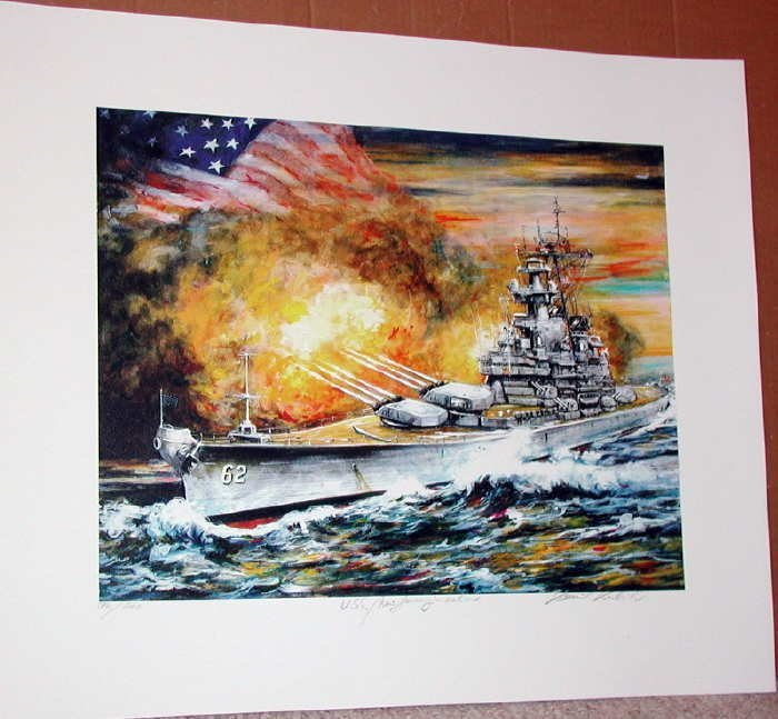 Kamil Kubik, USS New Jersey In Action, Signed SS