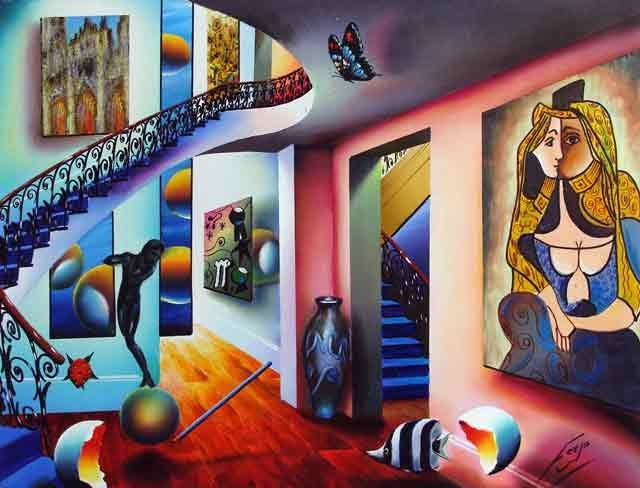 Ferjo, Passageway to the Masters, Signed Canvas Giclee