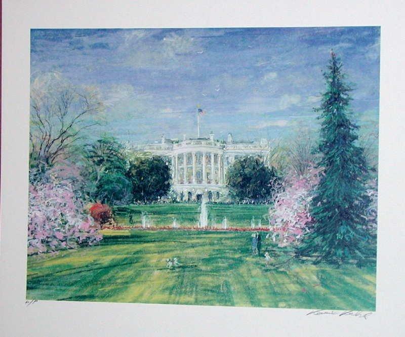 Kamil Kubik, The White House, Signed Serigraph