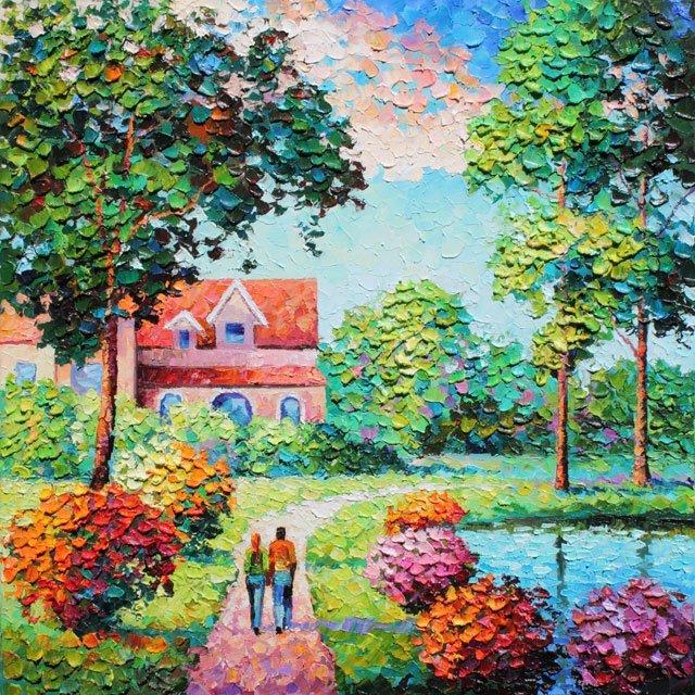 Alexander Antanenka,  Love Our Home,  Signed Canvas