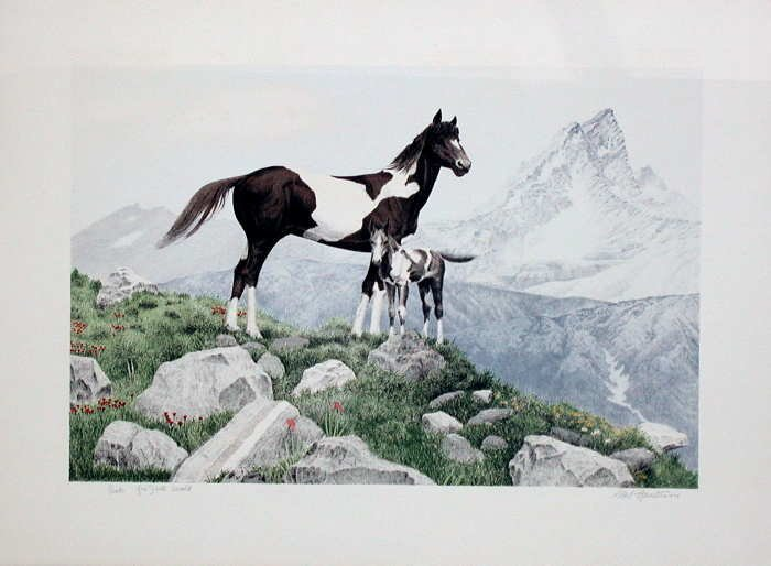 Mel Hunter, Pinto, Signed Lithograph