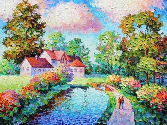 Alexander Antanenka,  Country Living,  Signed Canvas