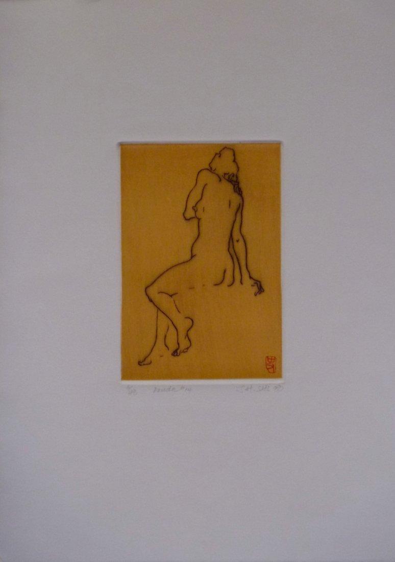 Jihong Shi, Nude #14,  Signed Etching