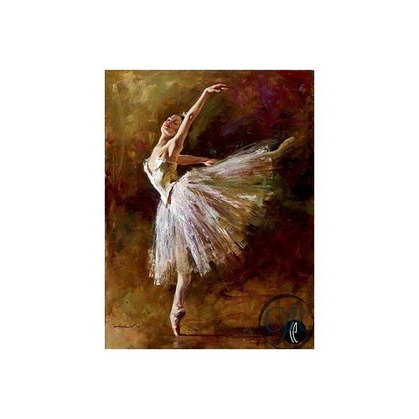 Andrew Atroshenko, Ballerina, Signed Giclee on Canvas