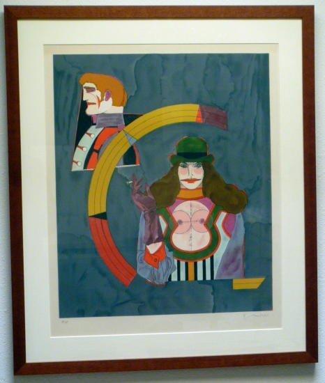 Richard Lindner, Portrait No. 2, Framed Lithograph