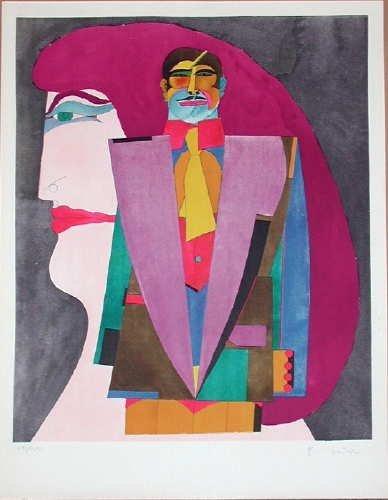 Richard Lindner, Portrait No. 1, Signed Lithograph