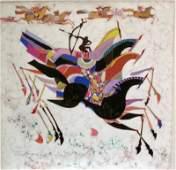 Li Zhong-Liang, Horses Giclee on Canvas