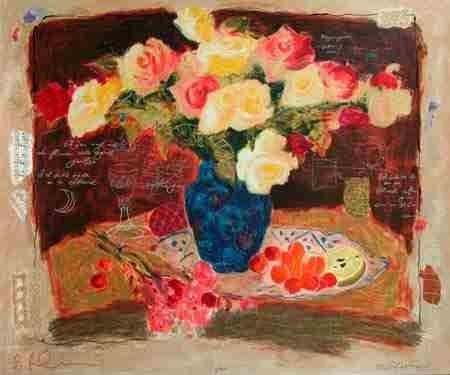 101: Alexander Wissotsky, Spring Flowers III, Serigraph